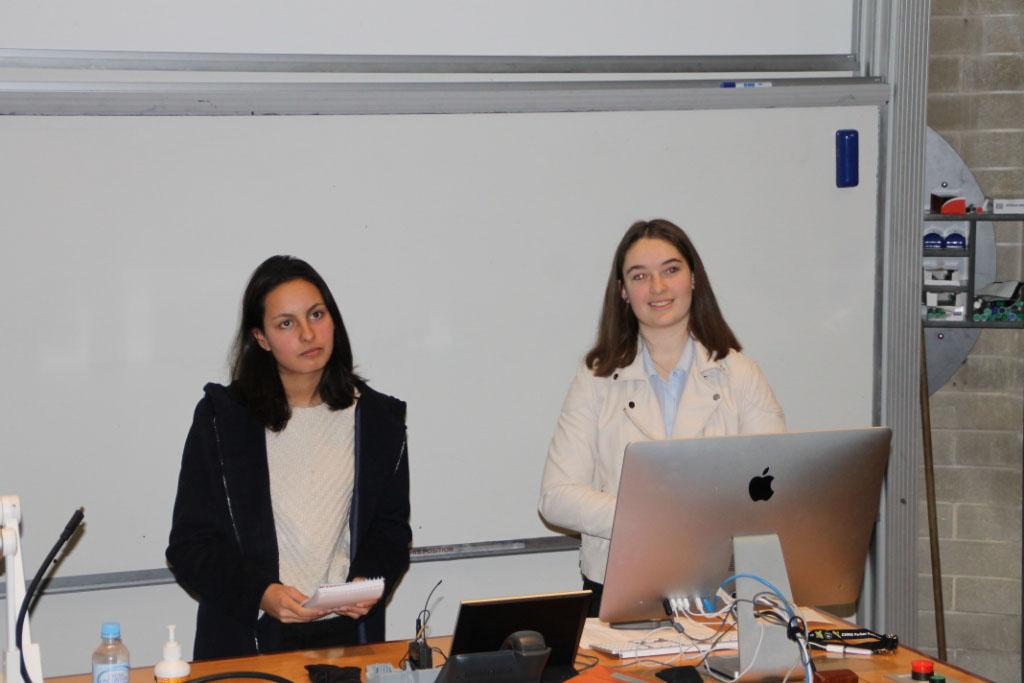 Students presenting their talk