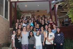 Attendees at the Women in Physics Camp
