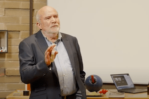 Professor David Jamieson presenting at the July Lectures in Physics 2020